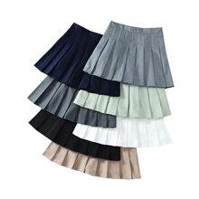 Black Skirt Summer Women Pleated Skirts High Waist A-Line Woman Mini Skirts Sweet Preppy Style Ladies Girls Dance Short Skirt