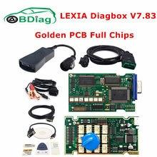 Fichas completas douradas lexia 3 fw 921815c diagbox v9.68/v7.83 lexi3 pp2000 v48/v25 lexia-3 para citroen/peugeot ferramenta de diagnóstico do carro