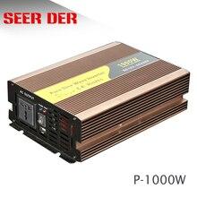 1000 watt güneş invertör saf sinüs dalga dc 12v 24v 1000 w invertör 1kw güneş 220v ac araba güç invertörü