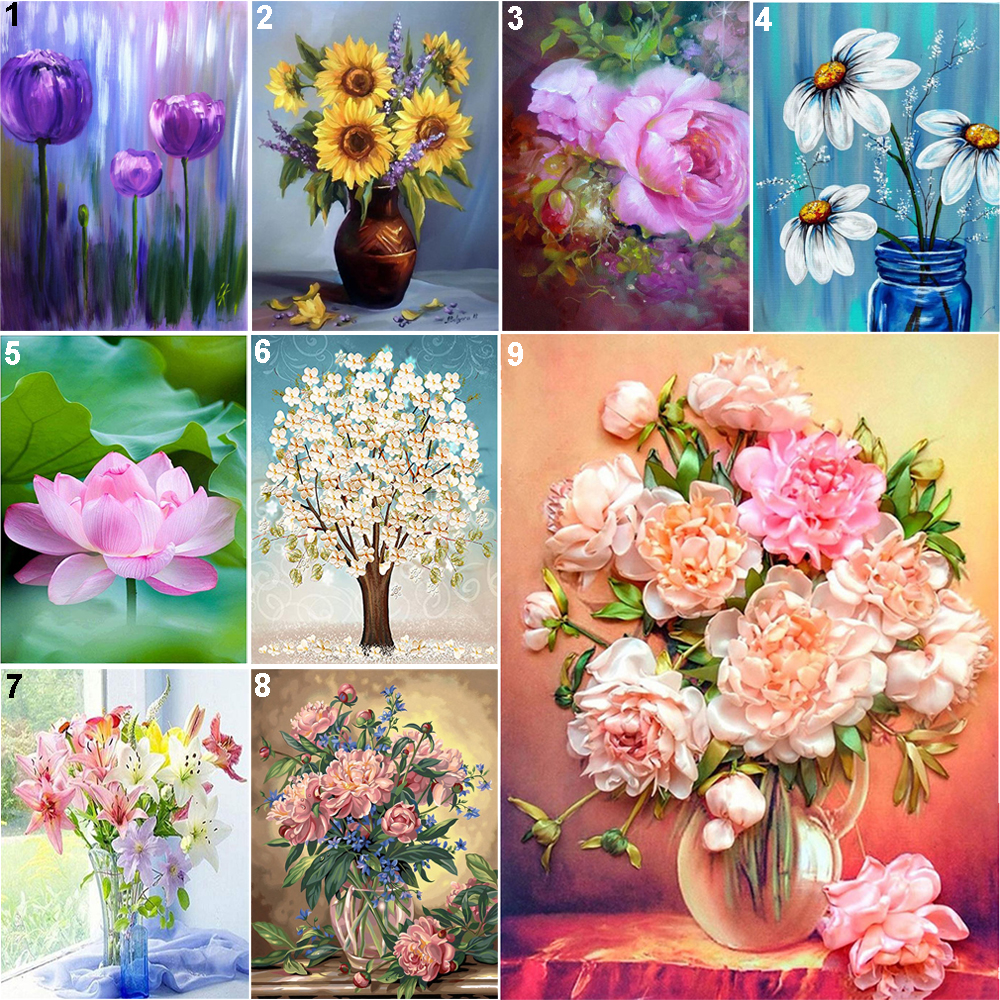 5D Diamond Painting Full Drill Embroidery Cross Stitch Kit Sunflowers Home Decor