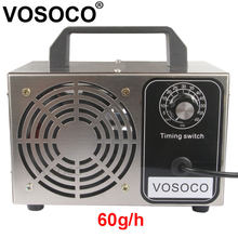 Generador de ozono portátil, ozonizador purificador de aire, esterilizador, tratamiento, ozono, añadido a máquina de ozono de formaldehído, 60 g/h, 48 g/h