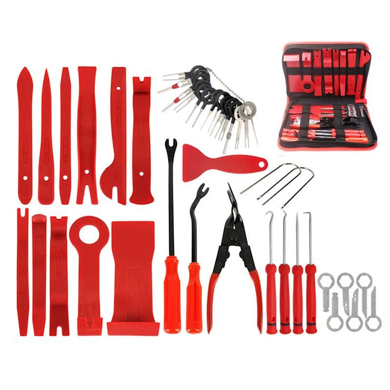 Radio Removal Installer Trim Tool Set Car Panel Kit 41pcs Audio and Repair with Storage Bag