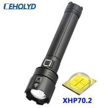 XHP70.2 4 ליבות פנס Led רב עוצמה באיכות גבוהה USB נטענת 18650 26650 סוללה לפיד פנס זום לקמפינג