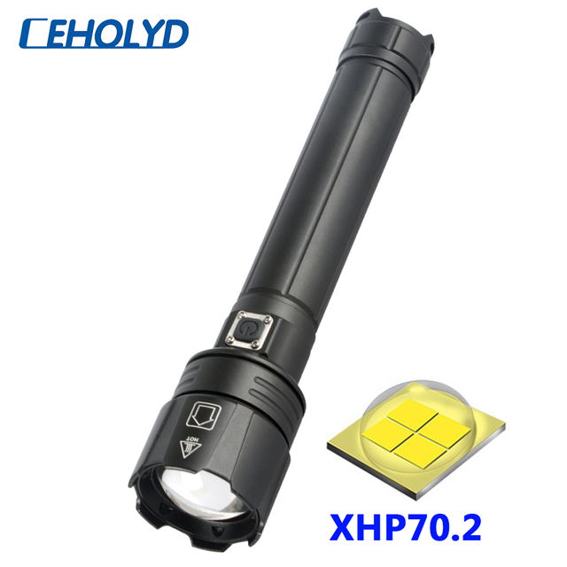 XHP70.2 4 core High Quality Powerful Led Flashlight Usb Rechargeable 18650 26650 Battery Torch Zoomable Lantern for Camping