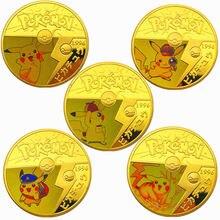 Японская позолоченная памятная монета Покемон Пикачу товары