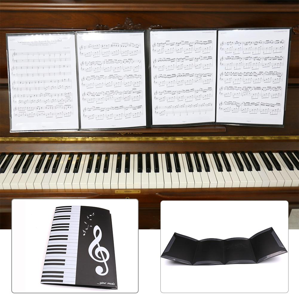 Foldable Music Sheet Score Folder Holder A4 Size Expanded Piano Score File Folder Music Accessories