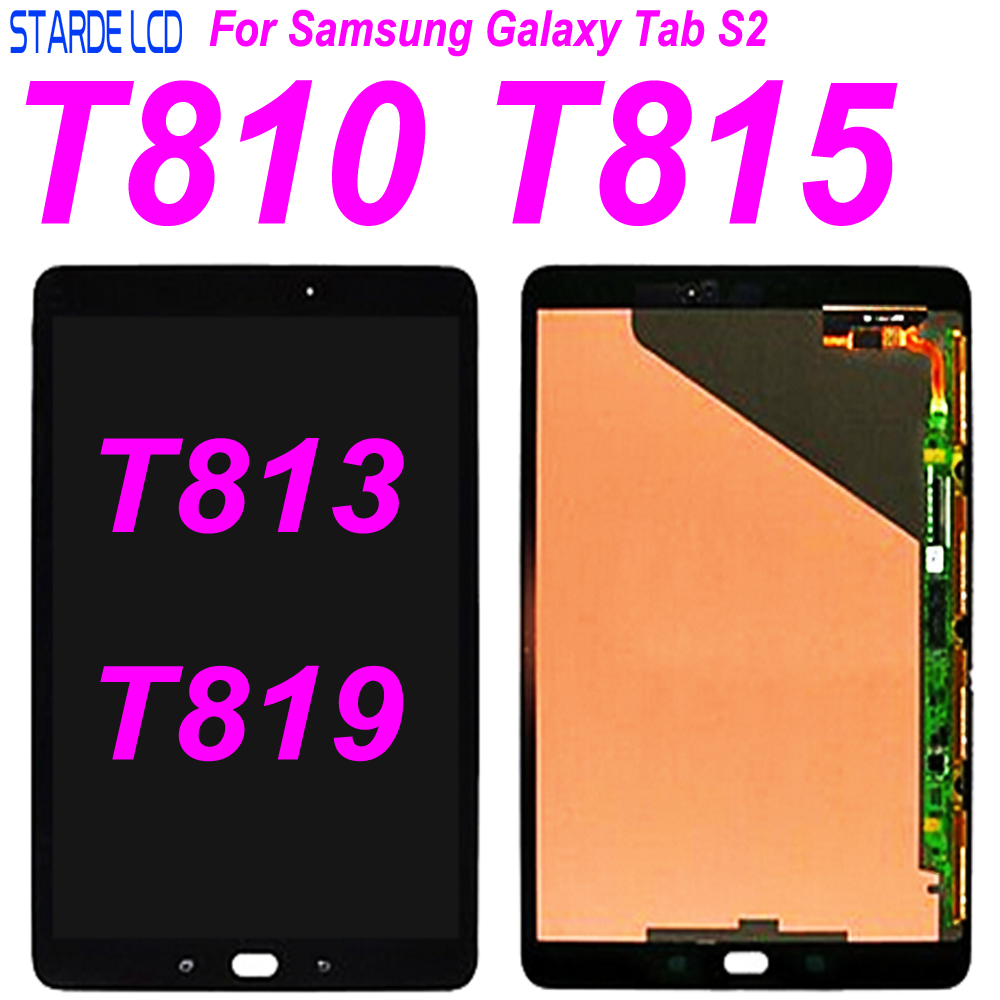 AAA+ 9.7 inch Full <font><b>LCD</b></font> Display Panel +Touch Screen Digitizer Glass For <font><b>Samsung</b></font> Galaxy <font><b>Tab</b></font> <font><b>S2</b></font> T810 T815 T819 T813 Digitizer Assem image