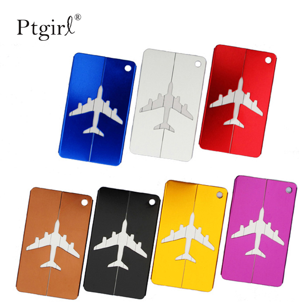Aluminium Alloy Luggage Tags Baggage Name Tags Ptgirl Suitcase Address Label Holder 2019 Arrival Travel Accessories Fashion Bags