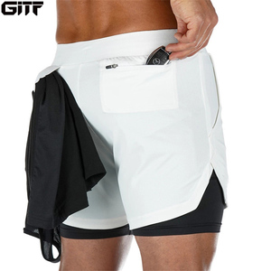 2020 Summer Running Shorts Men 2 in 1 Sports Jogging Fitness Shorts Training Quick Dry Mens Gym Men Shorts Sport gym Short Pants(China)