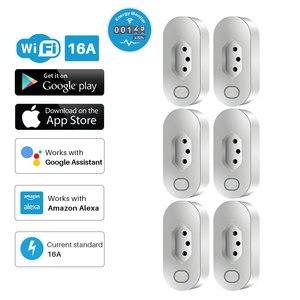 Image 1 - Enchufe inteligente WiFi, toma de corriente estándar de Brasil con monitoreo de energía, Compatible con asistente de Google Alexa