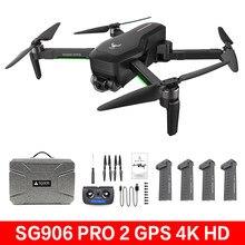 Zll sg906/sg906 pro 2 zangão com 4k hd câmera mecânica 3 eixos cardan 5g wi-fi gps 1.2km escala dobrável quadcopter profissional