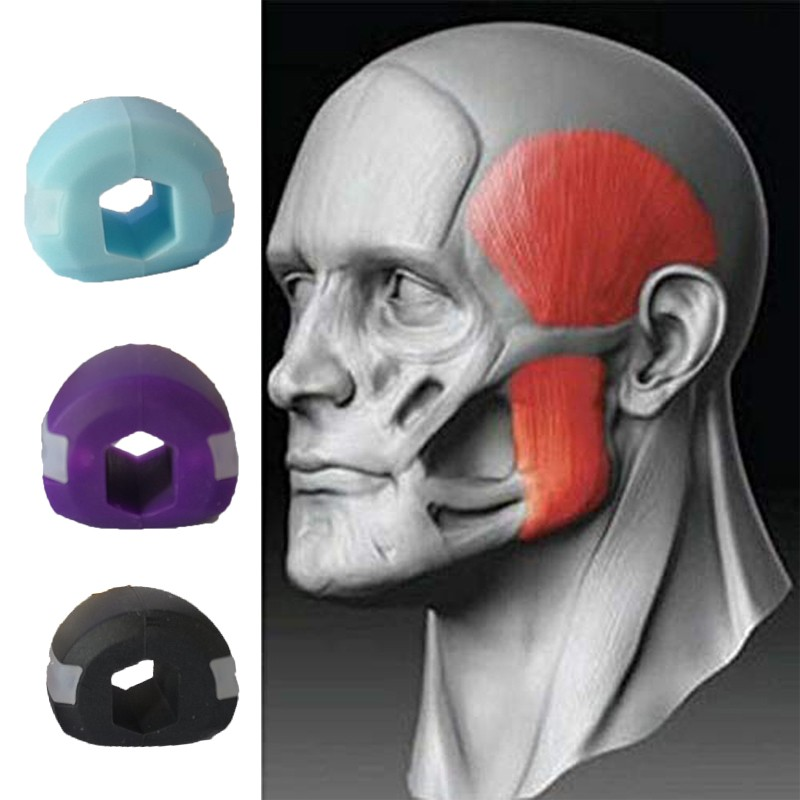 Face men facial pop n go mouth jawline Jawrsize Jaw chew ball chew bite 5