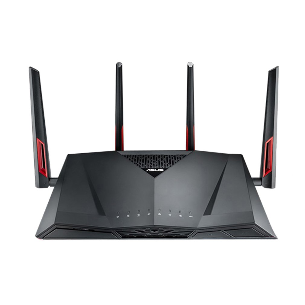 ASUS RT-AC88U Dual-Band Gigabit Wireless Router With 4 External Aerials High Speed Dual USB Wifi Signal Amplifier