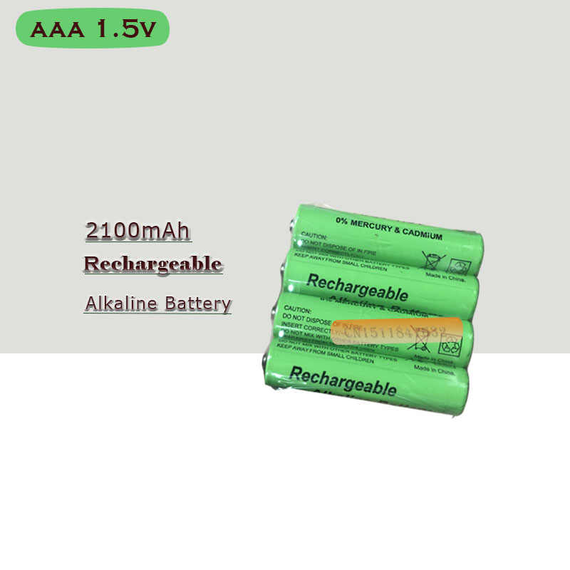 New Brand AAA Battery 2100mah 1.5V Alkaline AAA rechargeable battery for Remote Control Toy light Batery free shipping