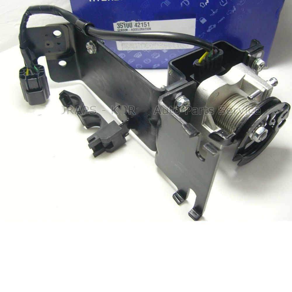 Pour Hyundai terrasses 01-06 véritable capteur d'accélération et actionneur capteur 3510042151-accélération