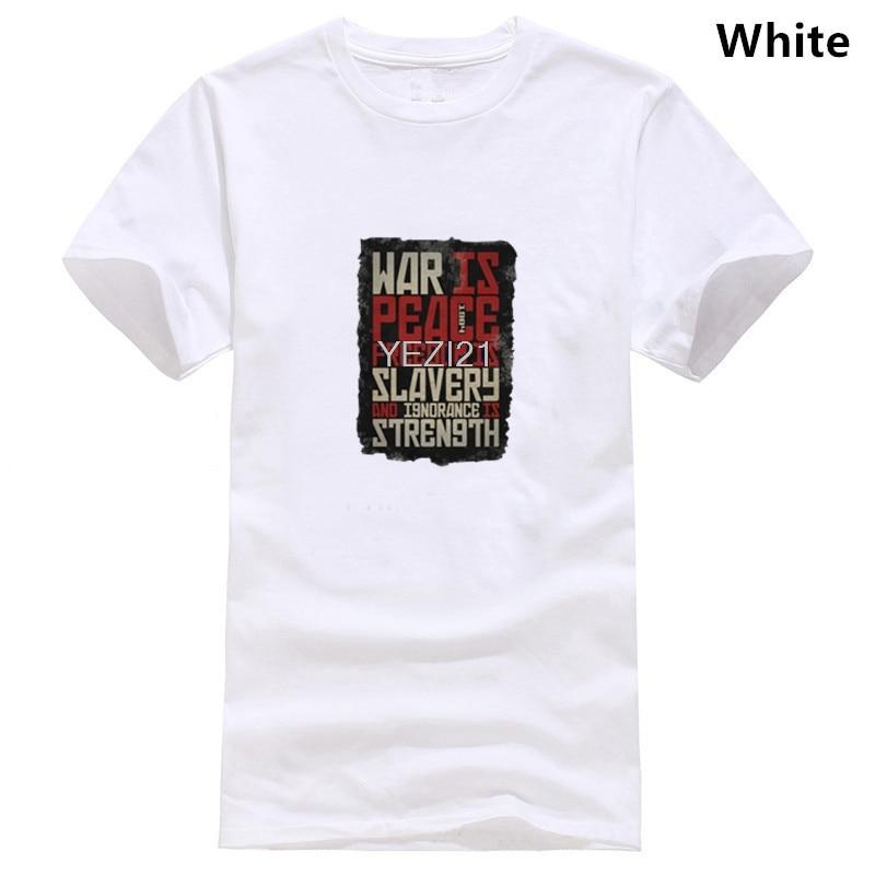 Война мира-свобода рабства-Джордж орвелл 1984 НСА футболка 2019 новейшие мужские забавные модные классические футболки