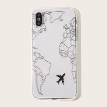 Transparent line airplane iPhone Case Is Suitable F