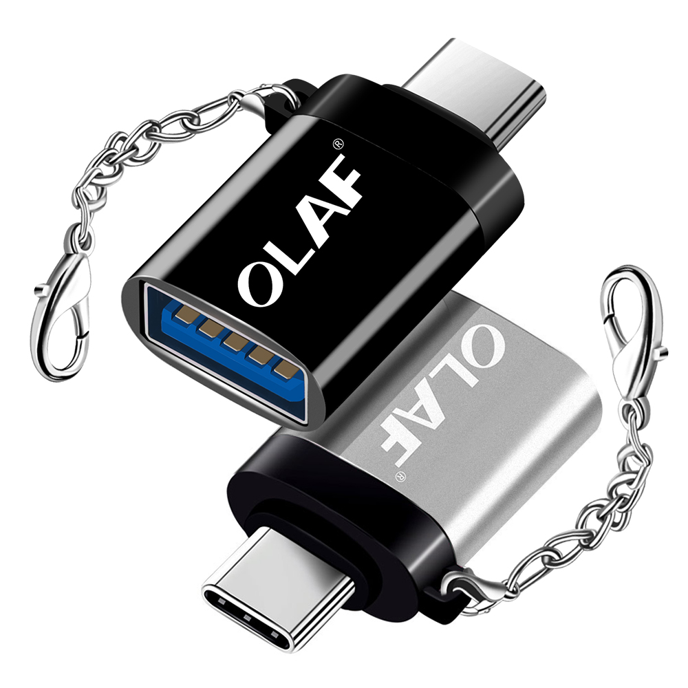 Olaf USB Type C OTG Adapter USB C Charge Data Converter Cable For Macbook Samsung S10 S9 S8 Huawei Xiaomi Mi9 USB To Type-c OTG