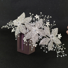 TRiXY H252-S Luxury Rhinestone Bridal Tiara Wedding Crown Bride Hair Jewelry Wedding Hair Accessory Bridal Flora Headpiece