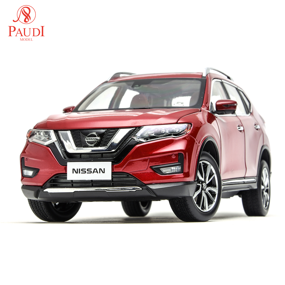 Paudi Model 1/18 <font><b>1:18</b></font> 1 18 <font><b>Nissan</b></font> Rogue X-Trail <font><b>Diecast</b></font> Model <font><b>Car</b></font> Toy Model <font><b>Car</b></font> Doors Open Men's Gifts Collections image