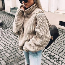 Sweater 2019Top Womens Off The Shoulder Casual  Knitted Solid Long Sleeve Pullover