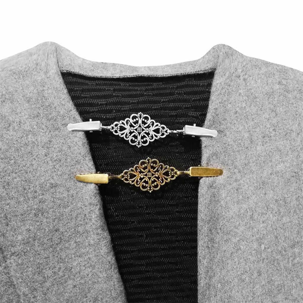 30 # 새로운 디자인 1Pcs 여성 카디 건 스웨터 블라우스 목도리 클립 셔츠 칼라 레트로 오리 클립 Clasps 패션 액세서리