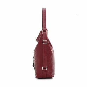 Image 2 - Luxury Handbags Women Bags Designer 2019 Women soft leather shoulder Bag Retro Solid Vintage Casual Tote Bag Ladies Hand Bags