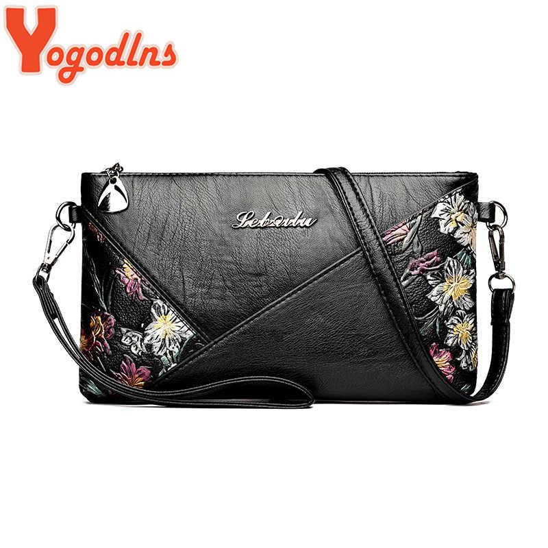 Yogodlns rétro fleur impression sacs à bandoulière pour femmes PU cuir sac à main bandoulière unique sacs à bandoulière femme petites pochettes quotidiennes