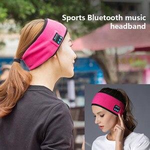 Image 1 - Wireless Bluetooth Headphone Sleep Yoga Headband Hat Soft Warm Sports Smart Cap Smart Speaker Stereo Scarf Headset with Mic
