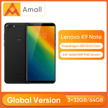 "Versión Global Lenovo K9 Nota 32/64GB K5 Smartphone Note 6 ""Pantalla FHD Snapdragon Octa Core Face ID 16MP Camera 3760mAh batería(China)"