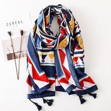 Boho Ethnic Style Print Scarf for Women Designer Shawl Luxury 2019 Blanket Bufanda Mujer Ponchos Capes Hijab
