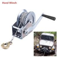 Universal 600Lb Hand Winch with 7M Steel Wire Rope Load Boat Trailer Manual Operated Hand Winch Portable ATV Winch