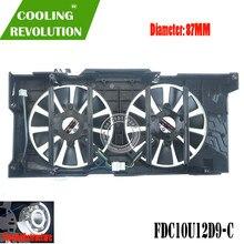 FDC10U12D9-C DC12V 0.45AMP 4PIN gráficos ventilador para ASUS EXPEDIÇÃO RX580 RX570 EX-RX580 EX-RX570
