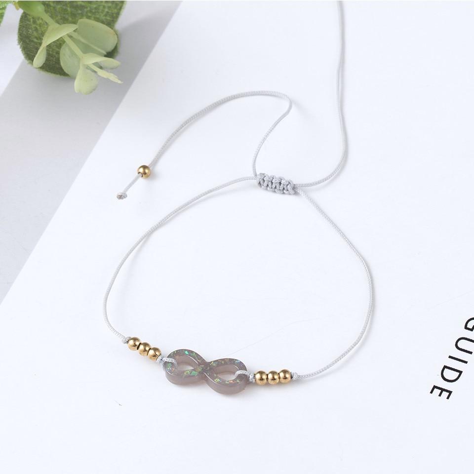 Boho Ankle Bracelet Bohemian Colorful Heart Beads Jesus Cross Turtle Butterfly Infinity Triangle Anklet Women's Leg Bracelet (37)