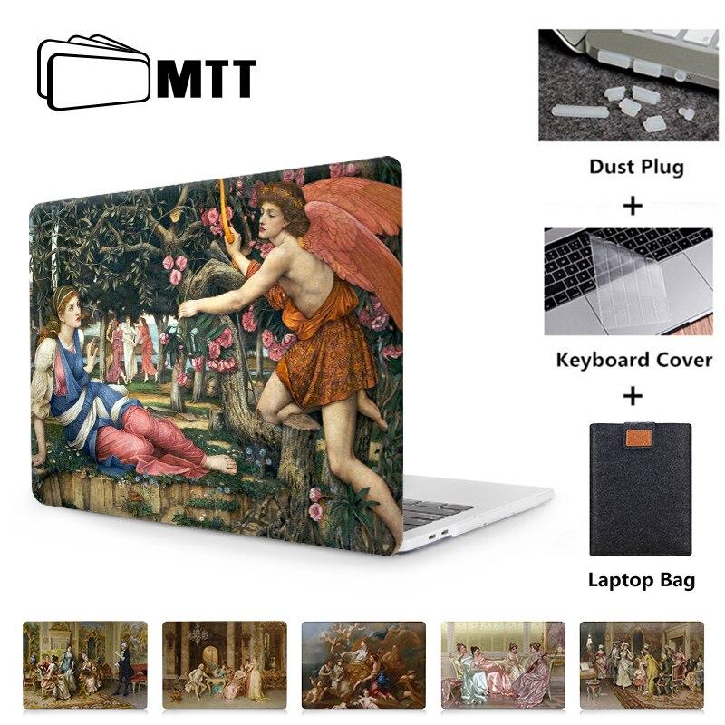 Чехол для ноутбука MTT для Macbook Air Pro 11 12 13 15 Retina с сенсорной панелью, 2019 чехол с масляной краской для Mac book Pro 16 дюймов Funda