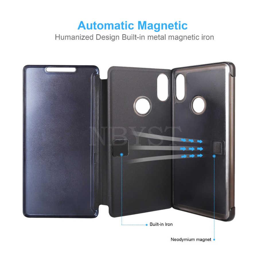 Умный зеркальный флип-чехол для телефона huawei Y5 Y6 Y7 Y9 Prime 2019 P Smart Plus Z Honor 10 20 20i Lite Clear View для Nova 4 5 Pro