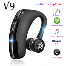 FOOVDO V9 Earphones Bluetooth Headphones Handsfree Wireless Business Headset Drive Call Sports for Iphone Samsung