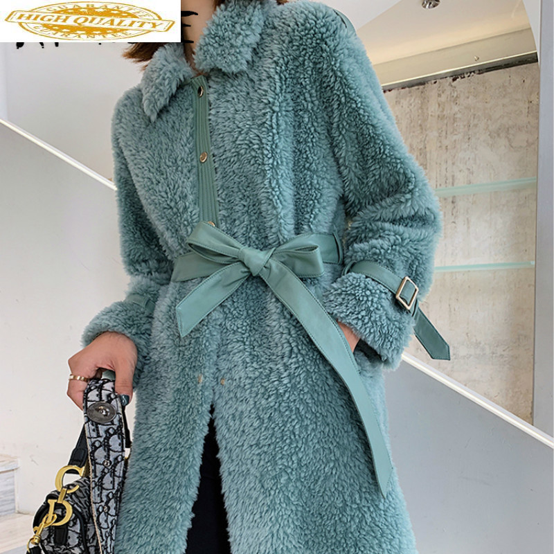 Real Fur Coat Women 100% Wool Jacket Women Clothes 2019 Sheep Shearing Autumn Winter Coat Women Korean Vintage A19236 YY1943