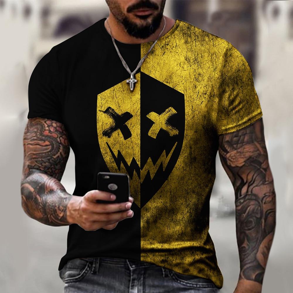 3d Printed t-shirt fashion men's street casual sports shirt male O-neck - mens-fashion