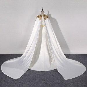 Image 2 - فساتين سهرة طويلة كلاسيكية في دبي لعام 2020 فساتين رسمية للحفلات من الساتان مزين بكريستال Vestidos Robe De Soiree