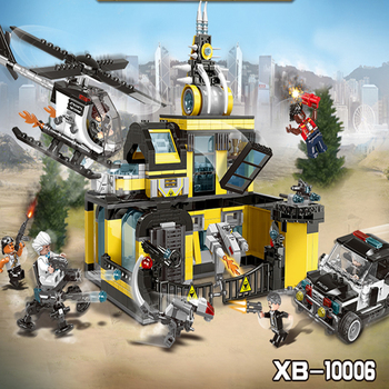 Blocks Toy Technic City Police Series Stop Xingbao 10006 The Assault Institute Set Model Building Blocks Bricks Helicopter Car