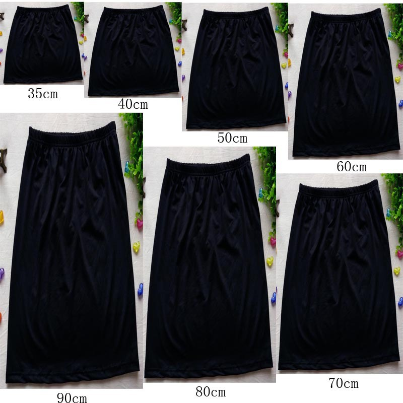 2018 Summer Women's Anti-through Underdress Anti-Exposure Underwear Skirt Slim Fit Versatile Slip Dress Anti-static Base Skirt