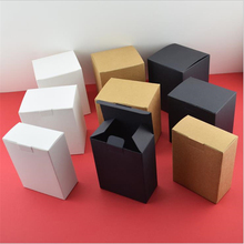 10pcs Kraft Paper Box For Candy Brown Cardboard Handmade Soap White Craft Gift Black Packaging Jewelry 17Sizes
