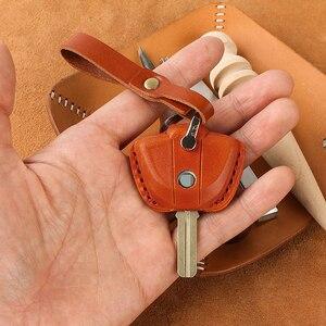 Image 3 - עור אמיתי מפתח מקרה Fob כיסוי מחזיקי מפתחות עבור BMW לאטה F800GS C400X R1200GS G310GS אופנוע KeyRing