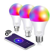 Inteligente lâmpada led e27 e14 b22 compatível com a casa do google alexa homekit colorido decorativo edison wifi rgb lâmpadas para casa