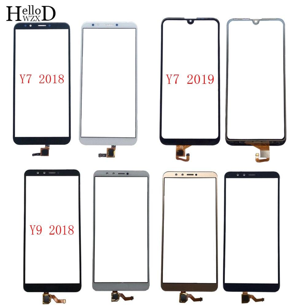 Touch Screen Für HuaWei Y7 2018 Y7 Prime 2018 Y7 2019 Y9 2018 Digitizer Panel Front Glas 3M Kleber tücher