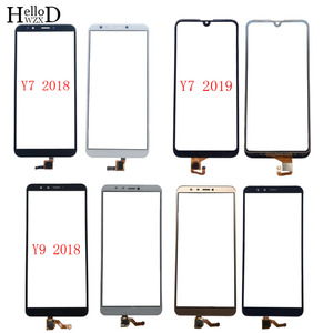 Touch Screen For HuaWei Y7 2018 Y7 Prime 2018 Y7 2019 Y9 2018 Digitizer Panel Front Glass 3M GLue Wipes