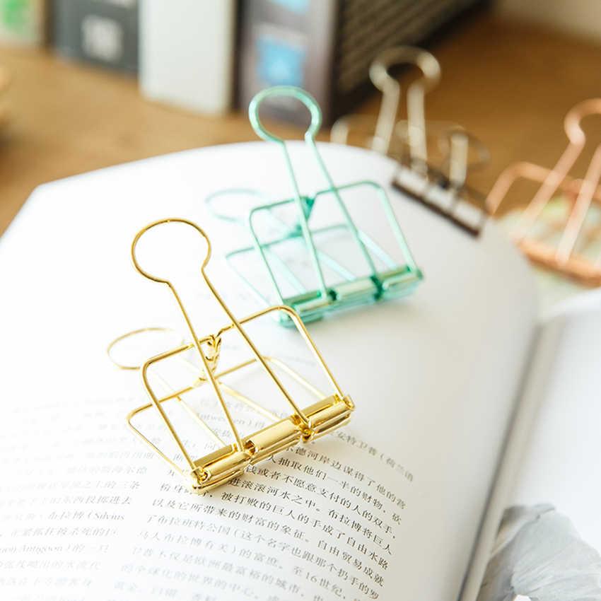 3 Jenis Kertas Klip Berongga Klip Pengikat Stainless Steel File Dokumen Pemegang Catatan Huruf Notebook Klip Diy Bookmark Perlengkapan