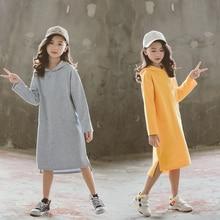 Платье для девочек Новинка 2020 года, детское осеннее платье детское платье с капюшоном одежда для отдыха «Мама и я» платье рубашка для малышей хлопок #5299
