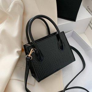 Маленькая женская сумка-тоут, модная Корейская слинг-сумка в стиле ретро, сумочка на плечо с крокодиловым узором для девушек